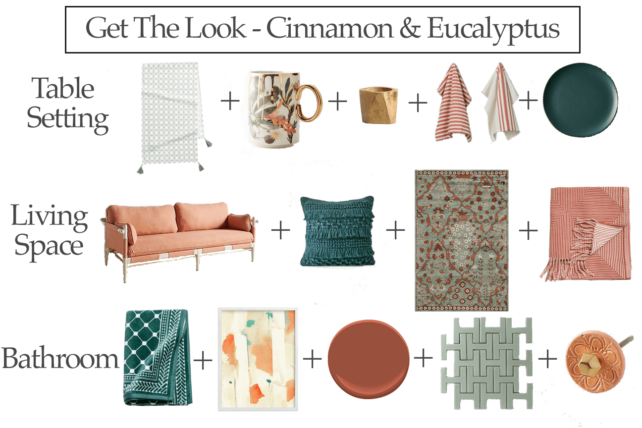 get the look cinnamon and eucalyptus home