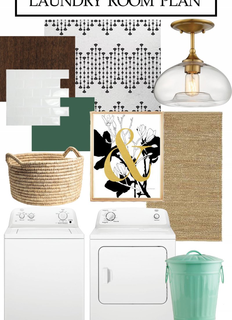Laundry Room Before & Plan