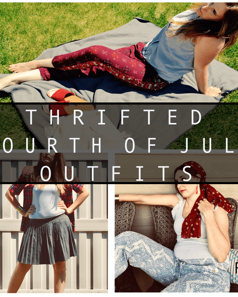 Thrifted Outfits for the 4th of July