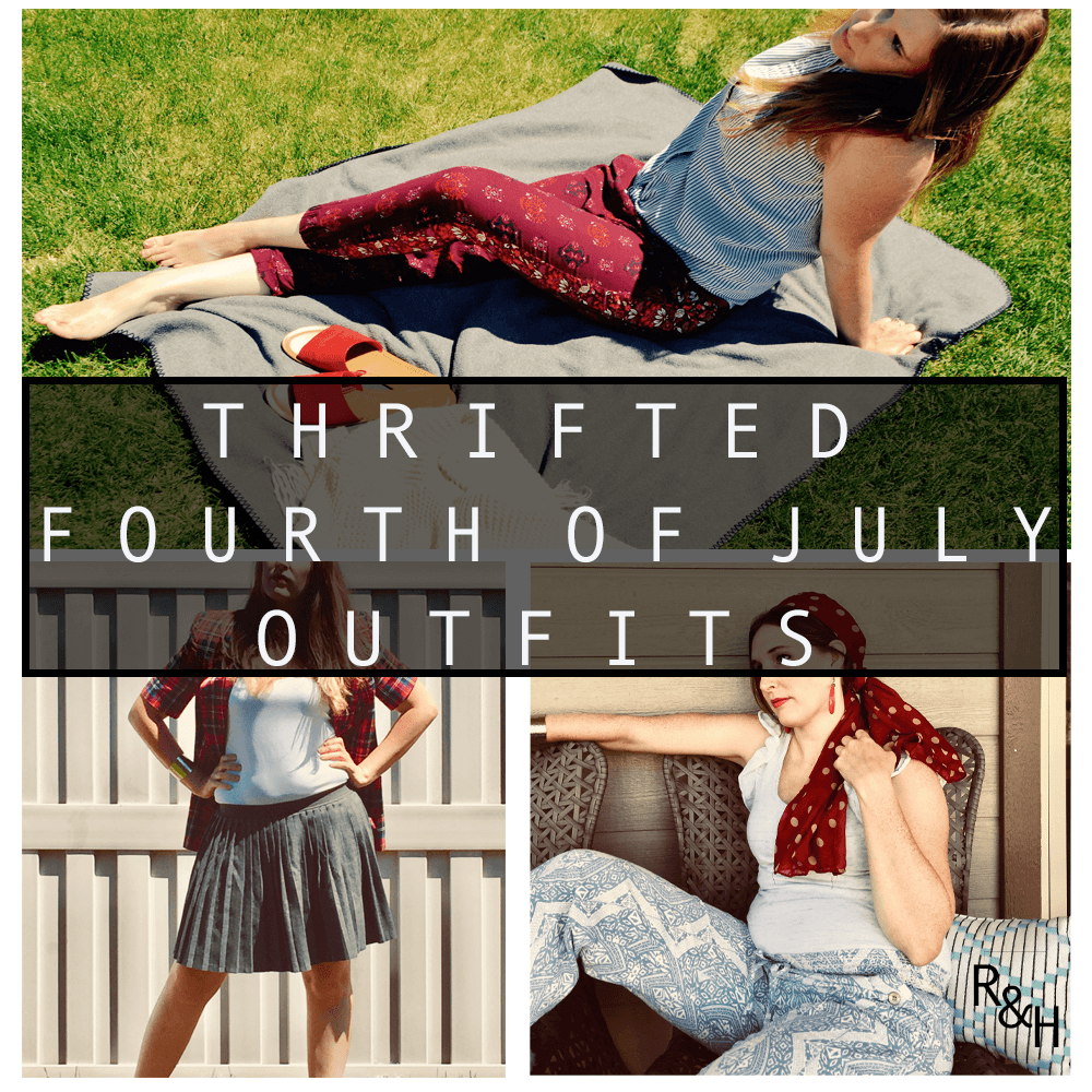 Thrifted outfits for 4th of July