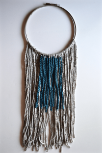 DIY Wall Hanging made of yarn, tapestry, macrame, texture