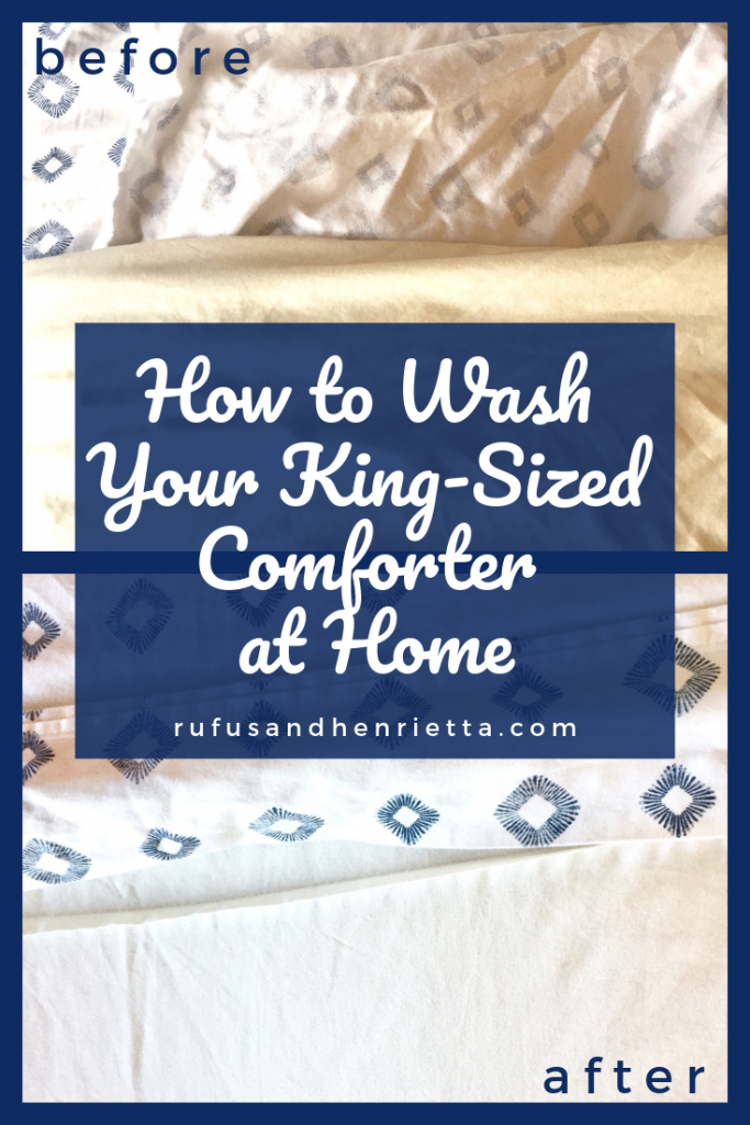 how to wash your king-sized comforter at home