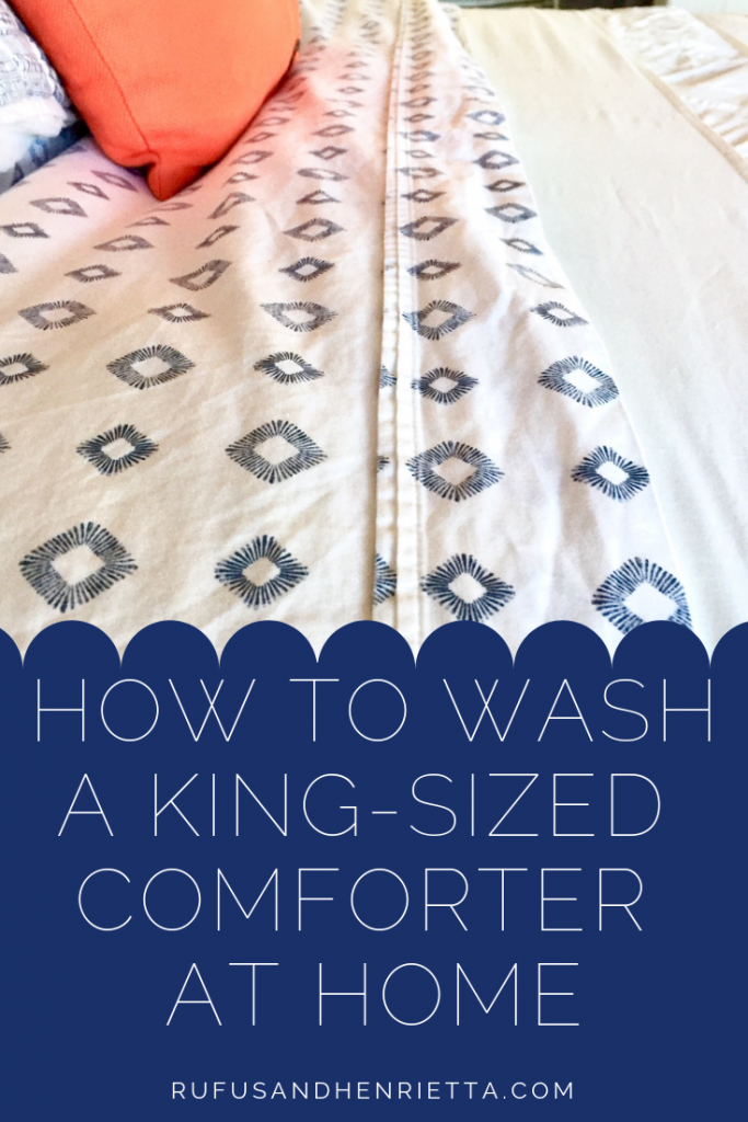 how to wash your comforter at home