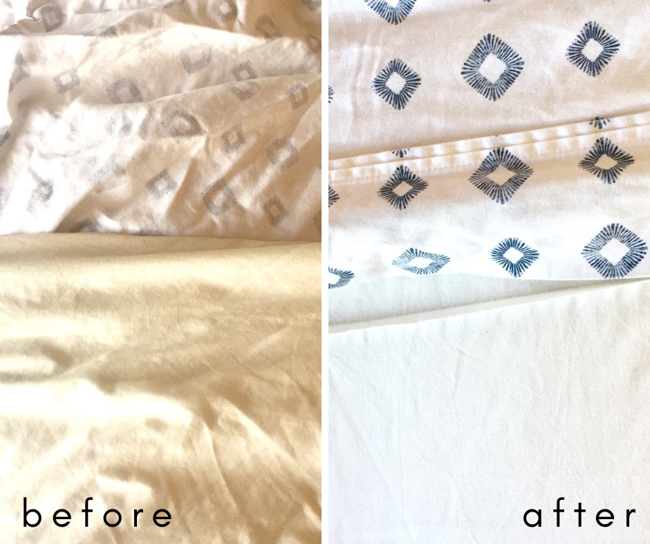 Before and After of washing king-sized comforter at home