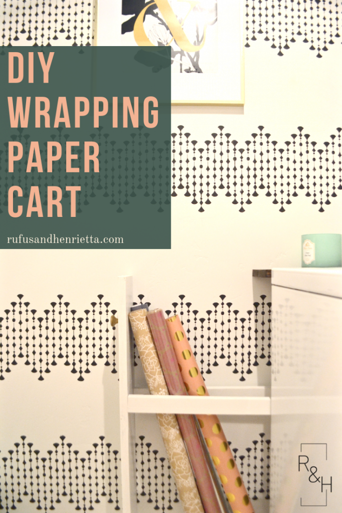 DIY storage, DIY organization, wrapping paper storage, wrapping paper organization, laundry room storage, laundry room organization