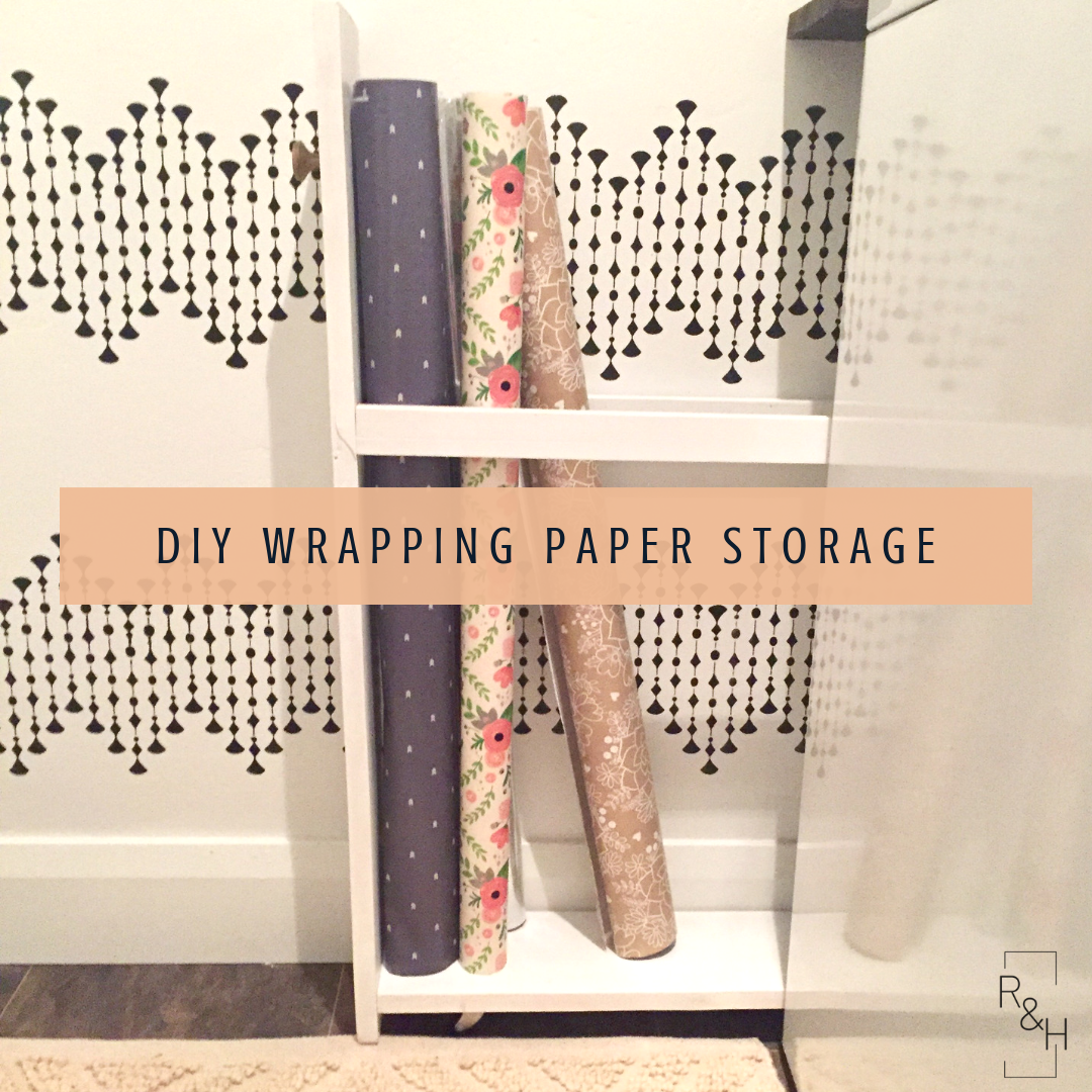 wrapping paper storage, diy, wrapping paper cart, laundry room storage