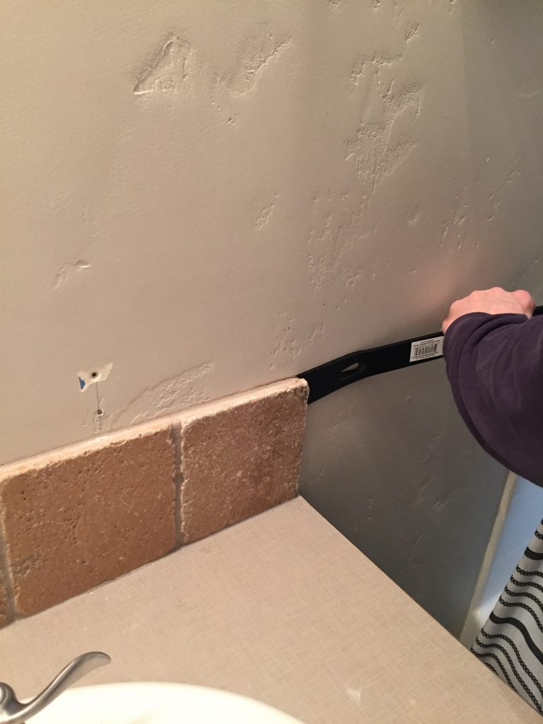 removing backsplash tile