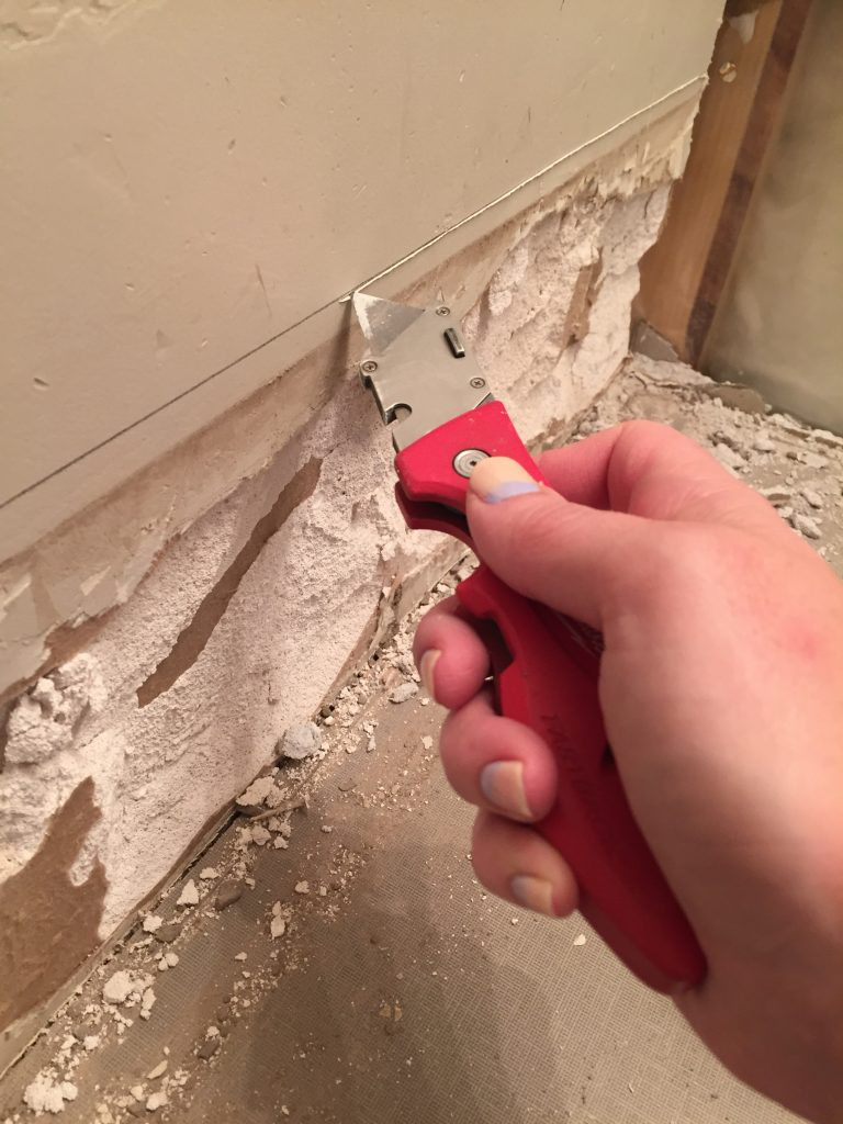 removing drywall