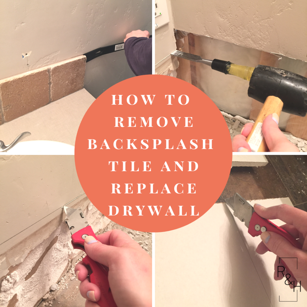 how to remove backsplash tile and replace drywall