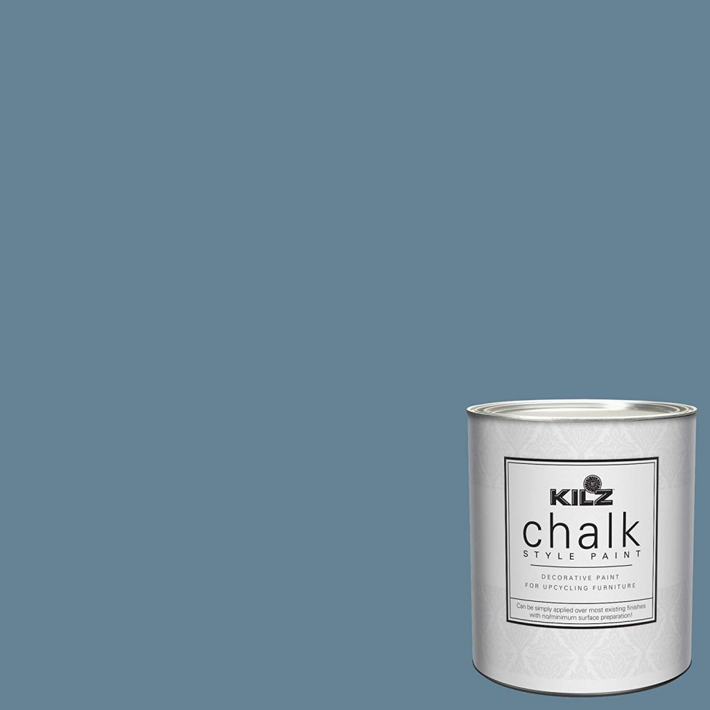 kilz swedish blue chalk paint