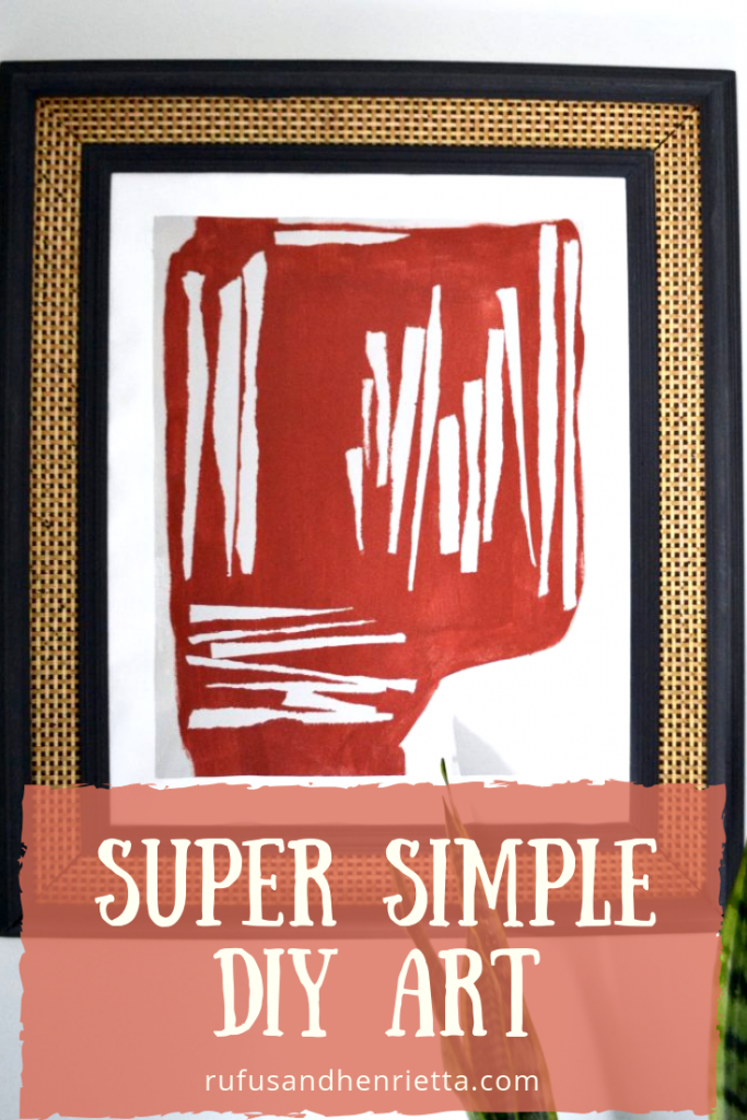super simple graphic abstract art diy tutorial