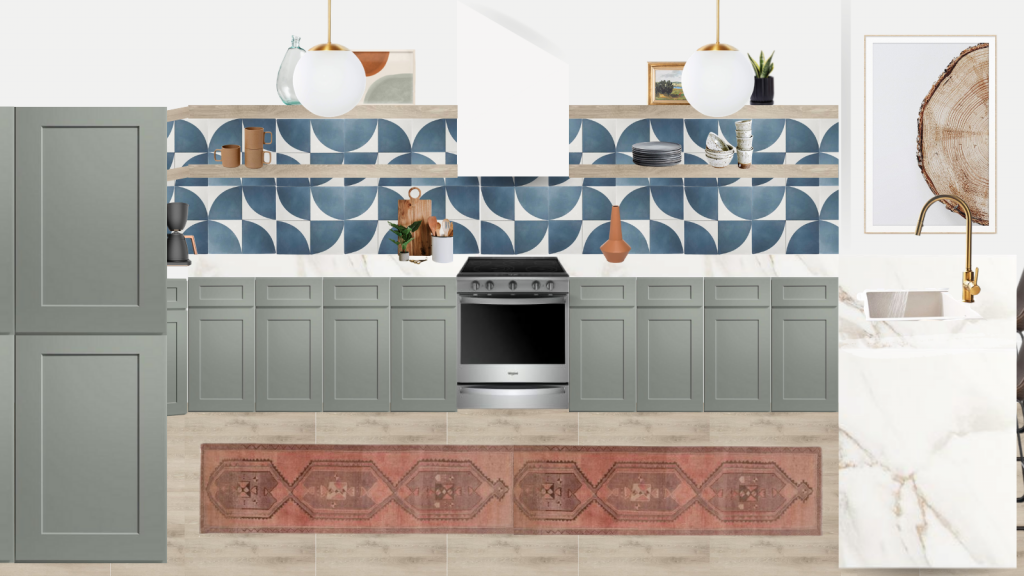 eclectic modern kitchen makeover